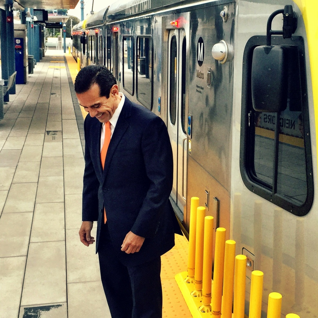 Former LA Mayor Antonio Villaraigosa gets the last laugh as LA Metro's Expo Line gets ready to open from downtown LA to downtown Santa Monica.