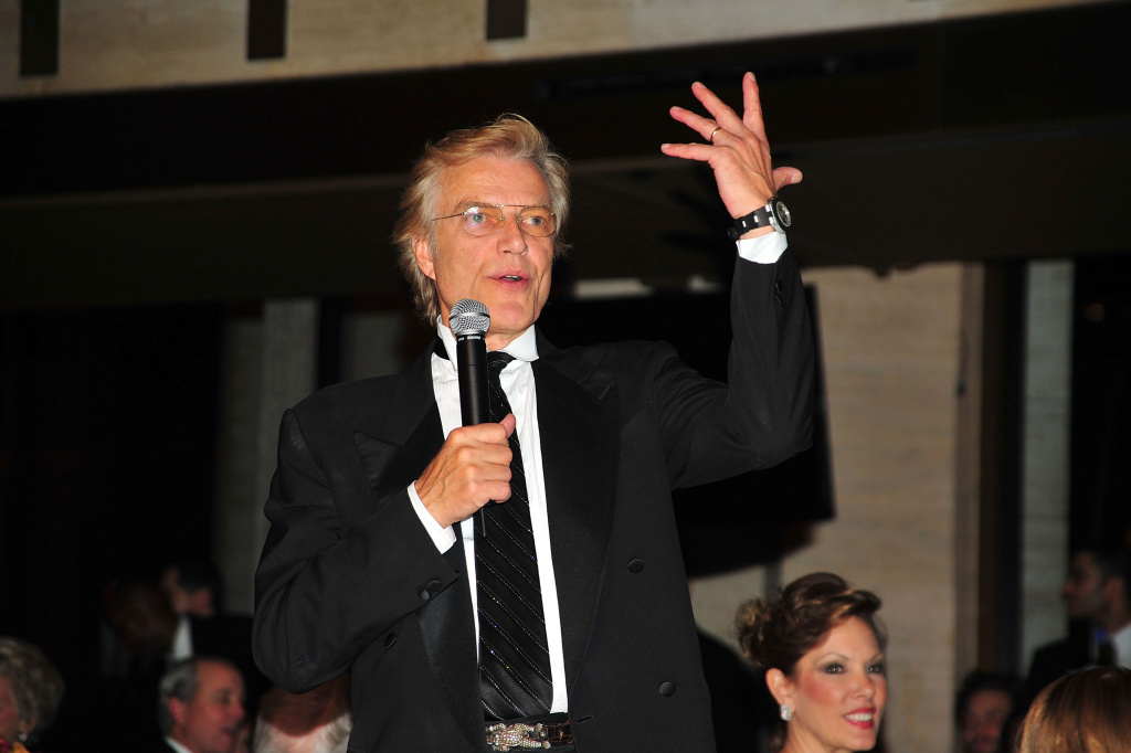 In this file photo, director of the New York City Ballet Peter Martins speaks at the New York City Ballet 2009-2010 season opening night celebration at the David H. Koch Theater, Lincoln Center on November 24, 2009 in New York City. With an ongoing investigation into sexual misconduct claims against him, Martins announced Monday he was retiring.