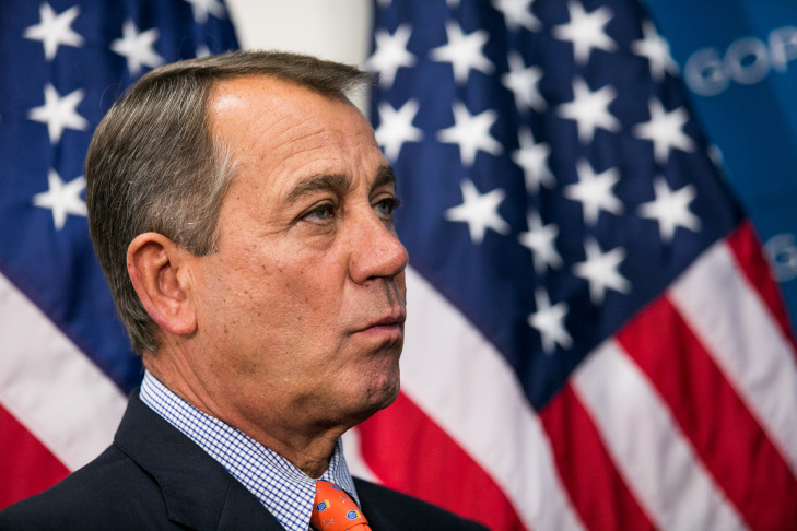 Boehner Speaks To Press After GOP Conference Meeting