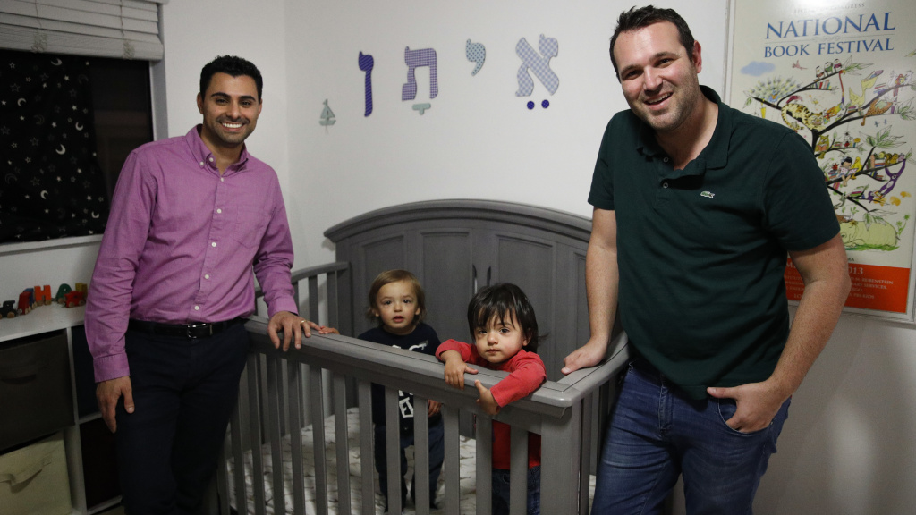 Aiden and Ethan Dvash-Banks with their two sons.