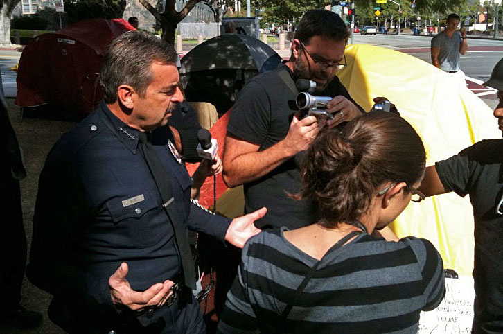 LAPD Chief Charlie Beck at Occupy L.A.