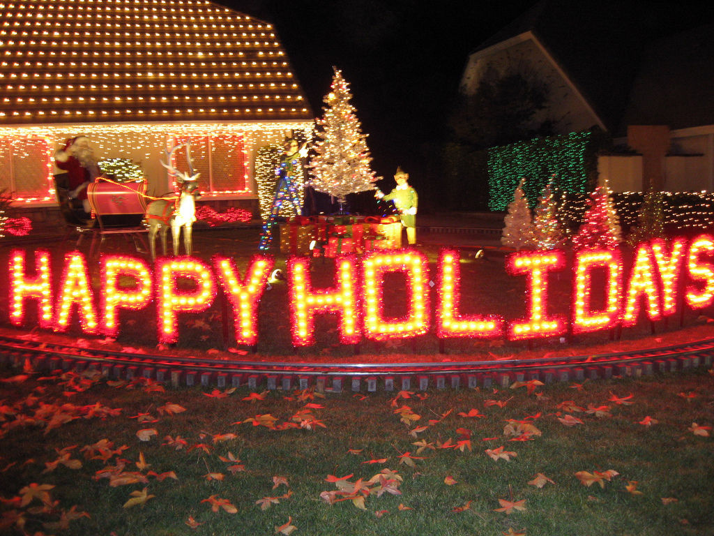 Lights shine bright on Thoroughbred Street in Alta Loma | 89.3 KPCC