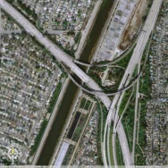 Google Earth: 405 & 605 & 22 Freeways
