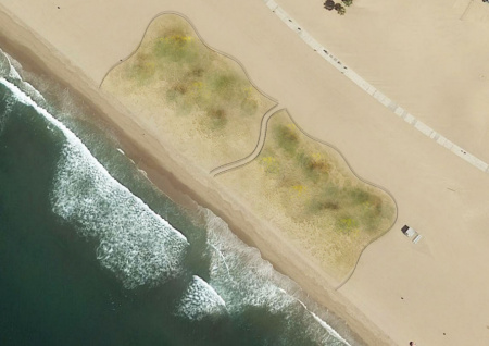 The Santa Monica Beach Restoration Project covers a 2-acre sandy stretch.