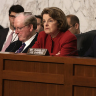 Senate Intelligence Committee ranking member Sen. Dianne Feinstein (D-CA) during a hearing in September on Capitol Hill.