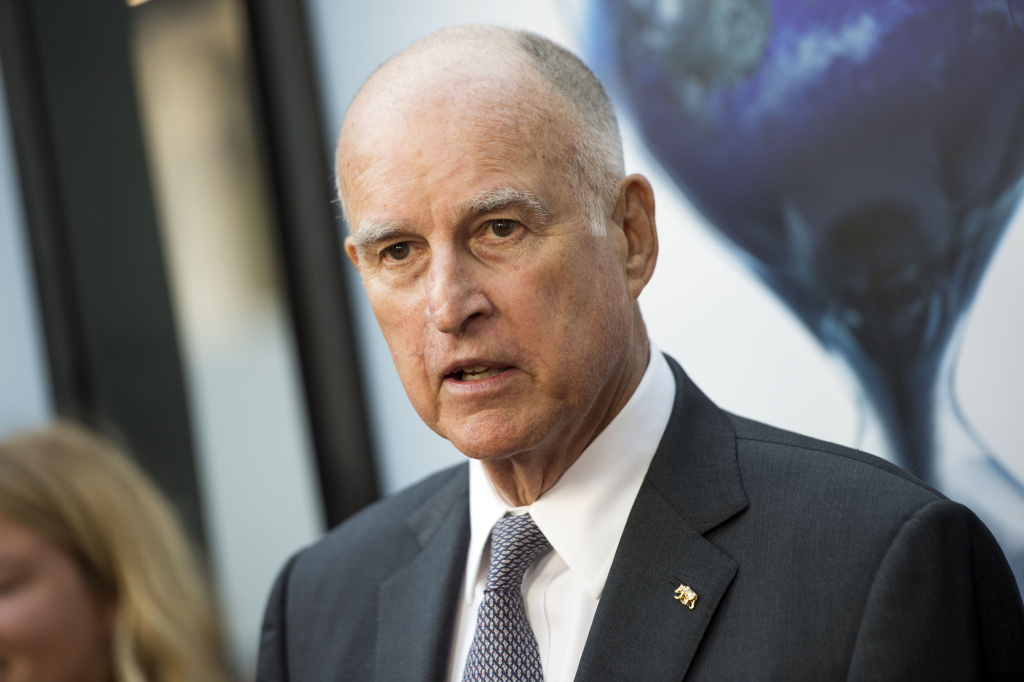 California Gov. Jerry Brown at a special Los Angeles screening of