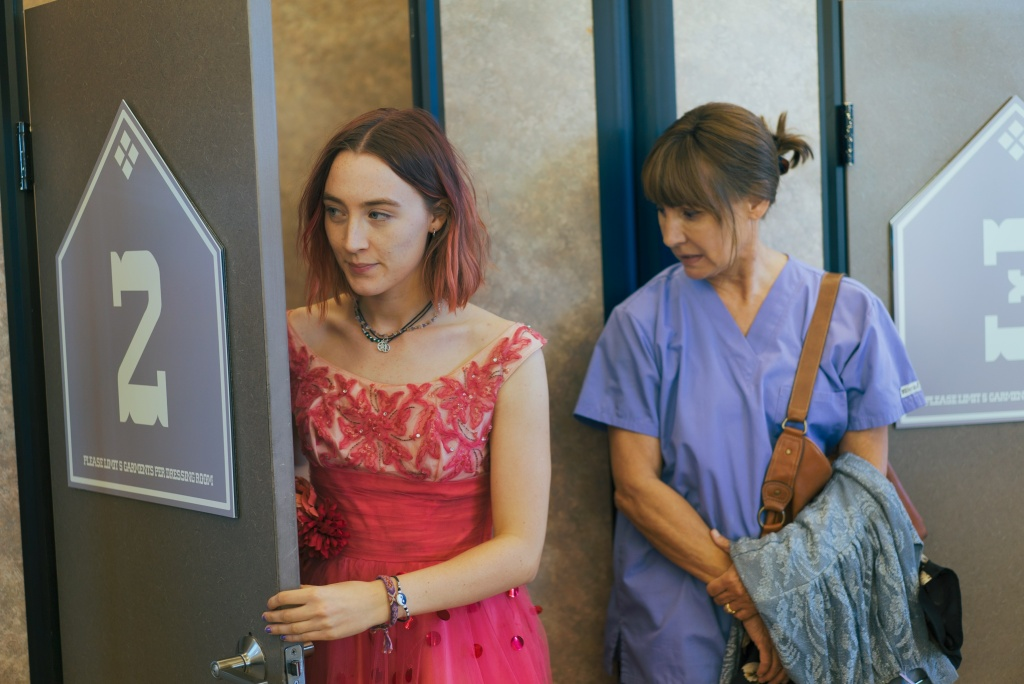 Lauire Metcalf, right, plays Saoirse Ronan's disapproving yet loving mother in