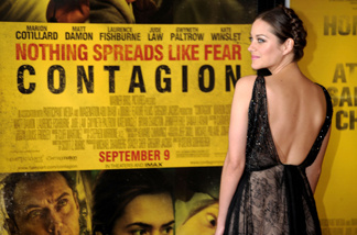Actress Marion Cotillard attends the 'Contagion' premiere at the Rose Theater, Jazz at Lincoln Center on September 7, 2011 in New York City.