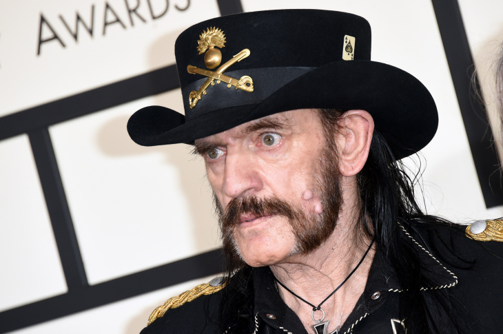 Lemmy Kilminster of Motörhead performs on stage on June 12, 2005 at day three of the Download Festival, in Donington Park England. Motörhead were the final act of the festival to perform on the Snickers stage.