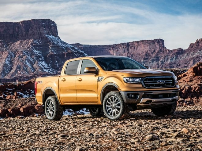 Ford showed its new 2019 Ranger at the 2018 North American International Auto Show in Detroit.