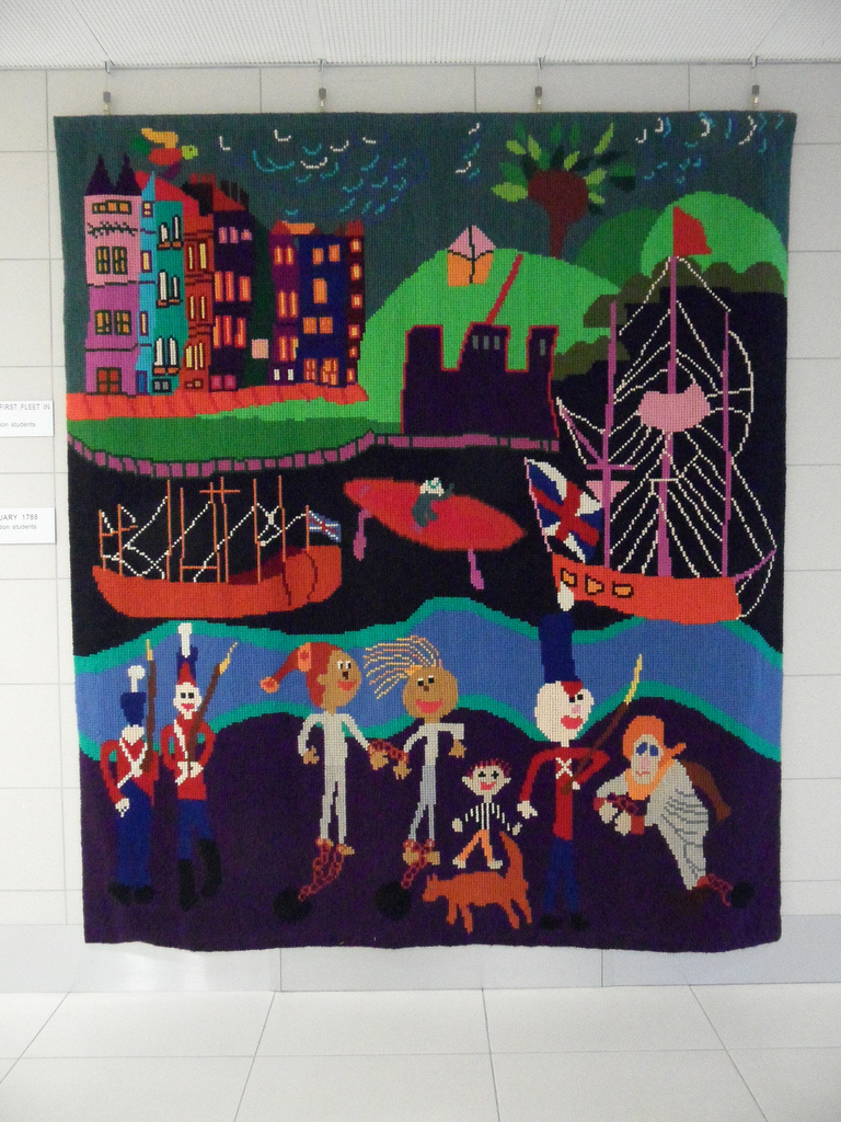 A tapestry made by Australian special education students.