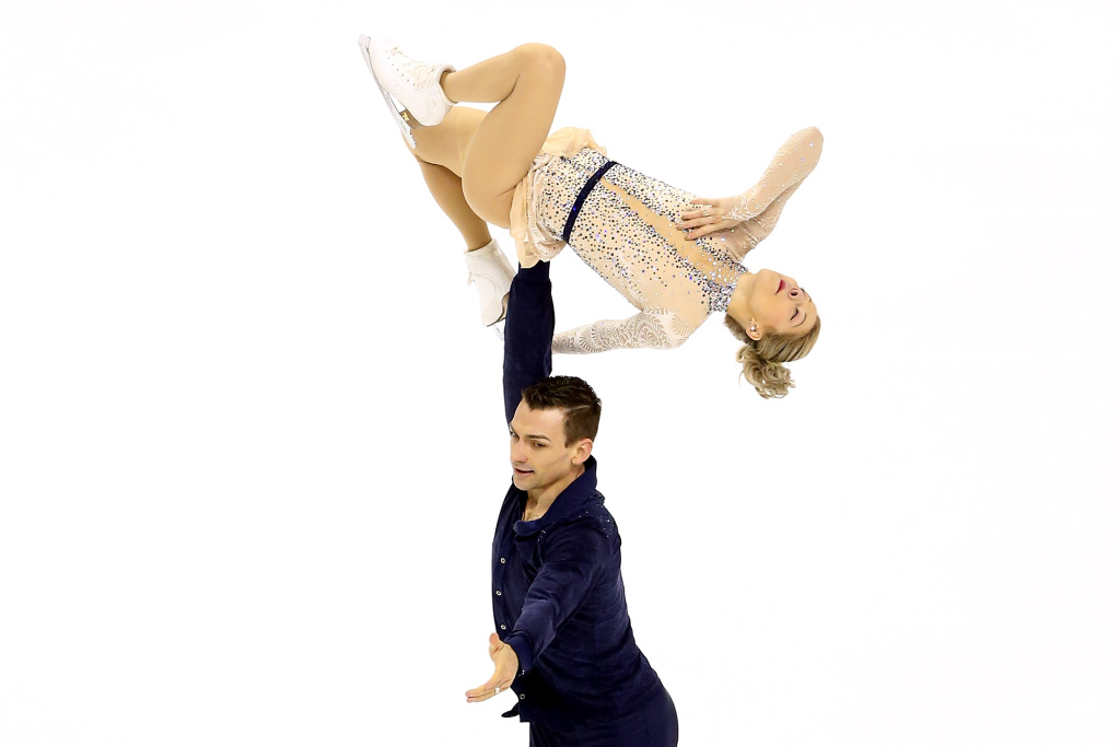 Alexa Scimeca-Knierim and Christopher Knierim compete in the Pairs Short Program during the 2018 Prudential U.S. Figure Skating Championships at the SAP Center on January 4, 2018 in San Jose, California.