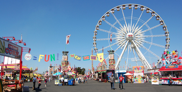A photo of the Los Angeles County Fair.