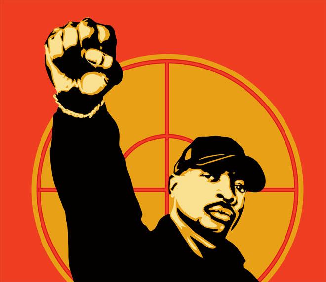 Chuck D by Shepard Fairey via ObeyGiant.com