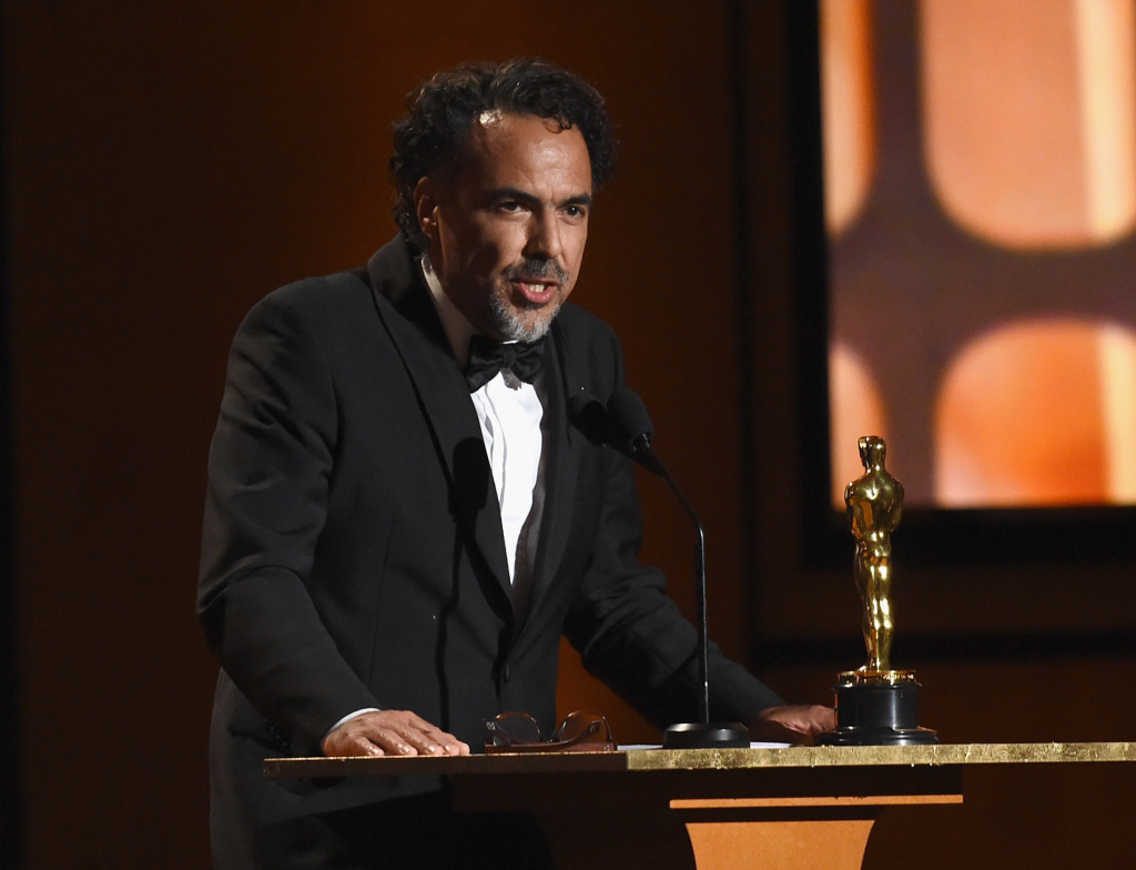 Special Award Winner Alejandro González Iñárritu speaks onstage at the Academy of Motion Picture Arts and Sciences' 9th Annual Governors Awards on November 11, 2017.