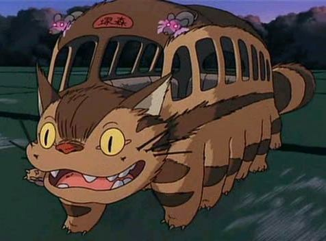 "An unforgettable image from Miyazaki's ""My Neighbor Totoro."" Note the mice as warning lights."