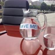 These were the props at Mayor Eric Garcetti's presser on water conservation Tuesday.