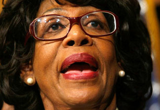 U.S. Rep. Maxine Waters (D-CA) speaks at a news conference on Capitol Hill February 12, 2009 in Washington.