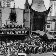 The premiere of Star Wars at Grauman's Chinese Theatre on Hollywood Blvd. May 25, 1977.