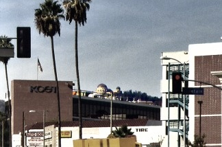 KCET's landmark studio on Sunset Blvd.