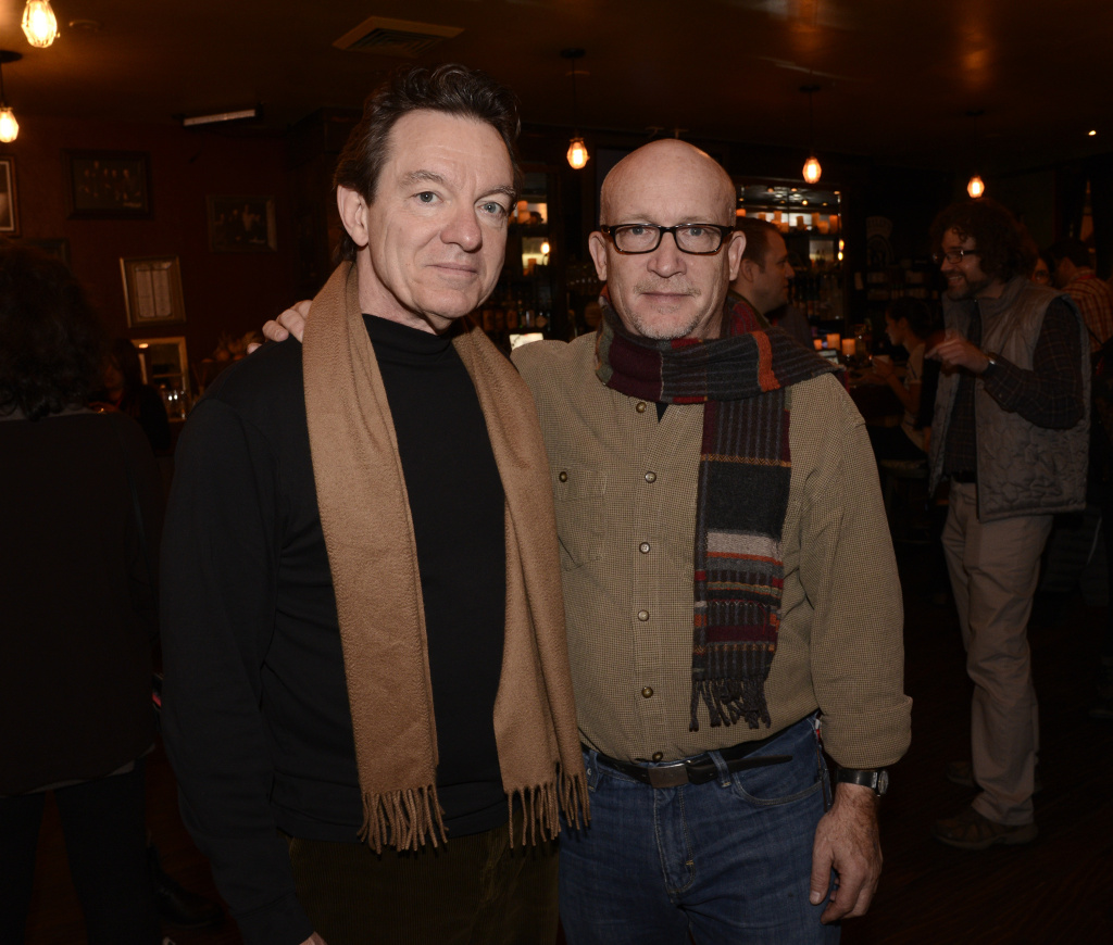 Director Alex Gibney, right, and author Lawrence Wright, whose book was the basis for Gibney's documentary,