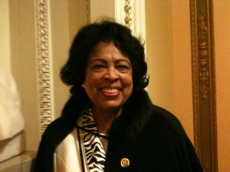 Former Congresswoman Diane Watson returned to Washington D.C. to wish her successor good luck.