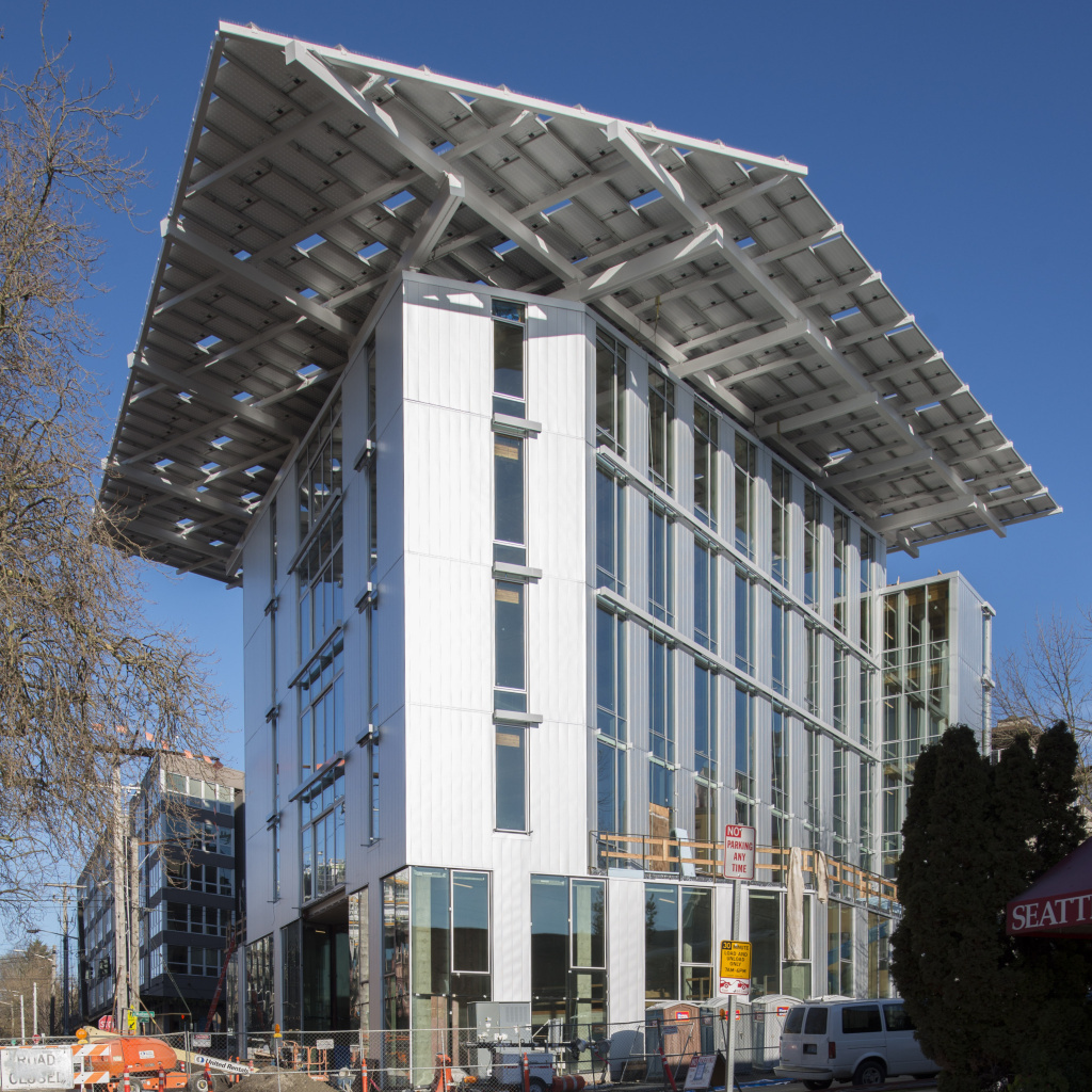 This Seattle building, a project by the Bullitt Foundation, is said to be the world's greenest office building. It uses a weather station to conserve energy, creates lighting via photovoltaic cells on the roof and features composting toilets.