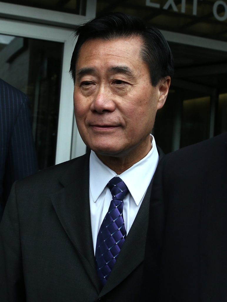 California State senator Leland Yee leaves the Phillip Burton Federal Building after a court appearance on March 31, 2014 in San Francisco, California. State Senator Leland Yee appeared in federal court today for a second time after being arrested along with 25 others by F.B.I. agents last week on political corruption and firearms trafficking charges. Yee is free on a $500,000 unsecured bond.