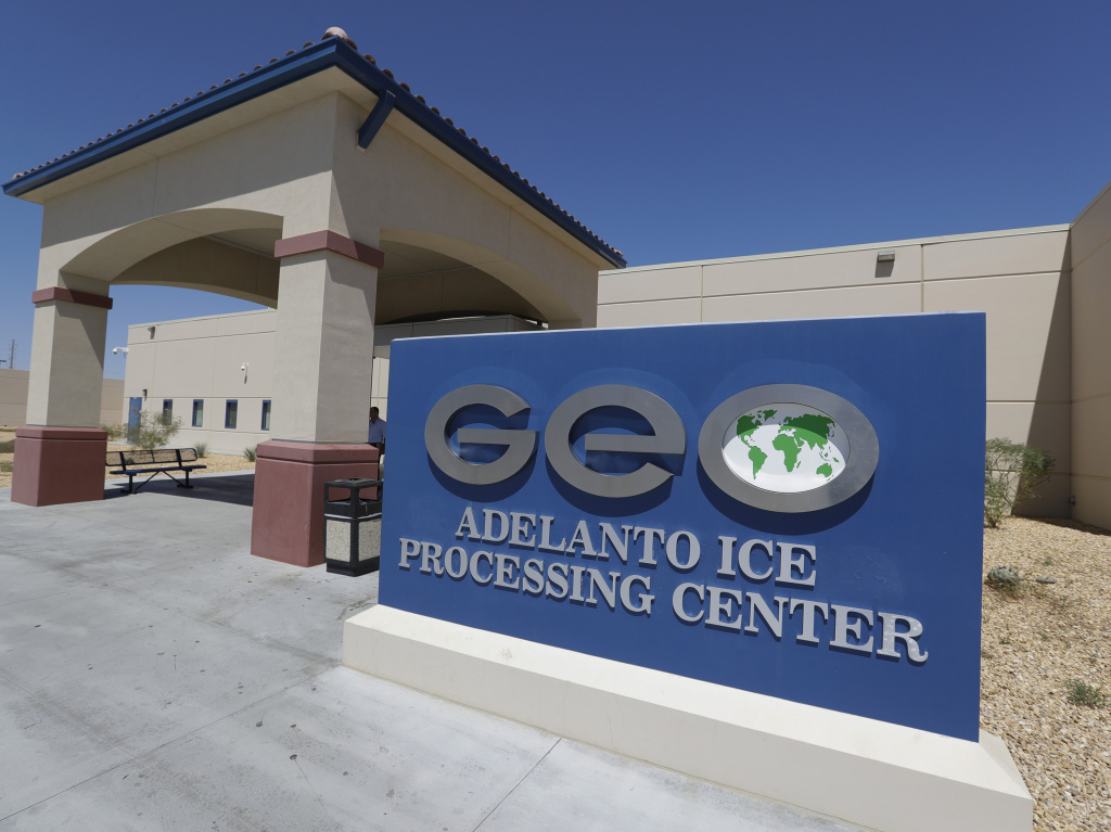 The Adelanto U.S. Immigration and Enforcement Processing Center in Adelanto, Calif., is operated by GEO Group, Inc., a Florida-based company specializing in privatized corrections. The facility is one of 39 recommended by the ACLU for closure.