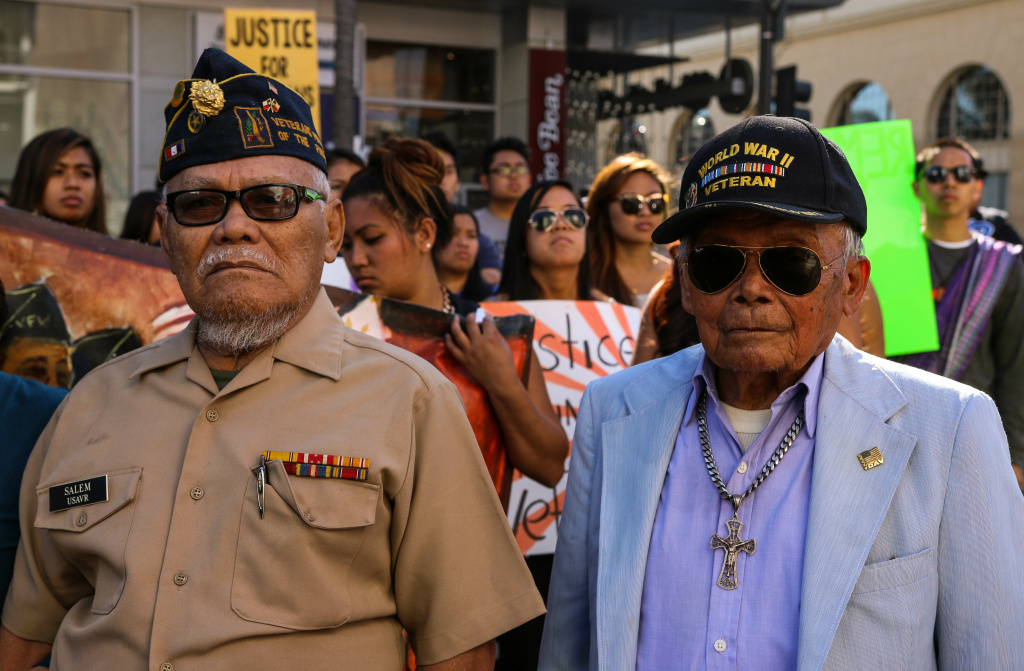 Filipino veterans, family members and supporters join in the annual parade honoring their service.
