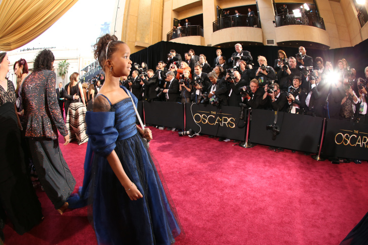 Actress Quvenzhané Wallis arrives at the Oscars held at Hollywood & Highland Center on February 24, 2013 in Hollywood, California.