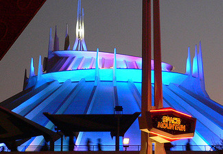 The Space Mountain indoor roller coaster ride at Disneyland, in Anaheim, Calif.