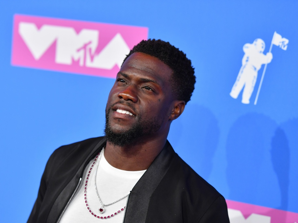 US actor/comedian Kevin Hart attends the 2018 MTV Video Music Awards at Radio City Music Hall on August 20, 2018 in New York City.