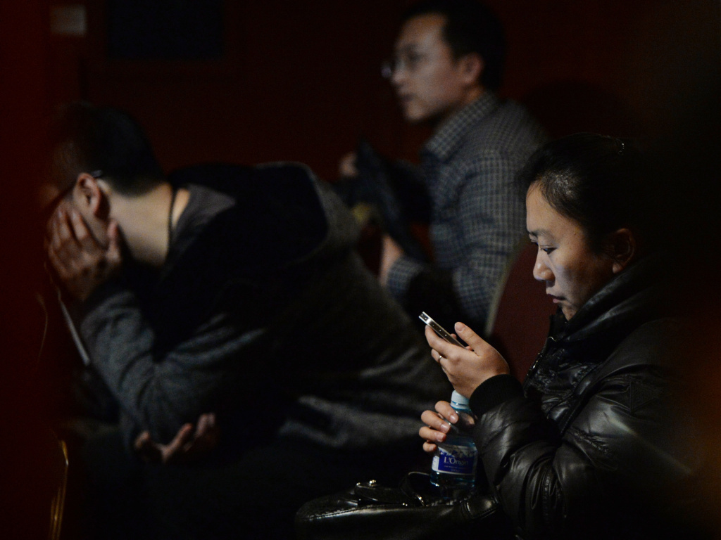 In Beijing, anxious relatives continue to wait for word about the fate of Malaysia Airlines Flight 370. The Beijing-bound jet disappeared on Saturday.
