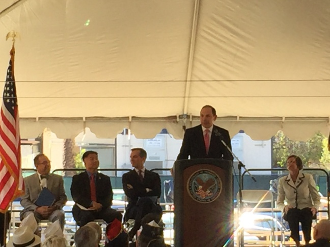 VA Secretary Bob McDonald speaks at final Master Plan announcement on the Westwood veterans campus.