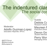 The indentured class: The social costs of student debt