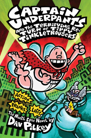 "Book cover of ""The Adventures of Captain Underpants"""