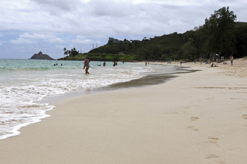 View of the Kailua beach in Hawaii