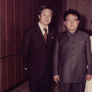 Shin Sang-ok, Kim Jong-il, and Choi Eun-hee in 1983.