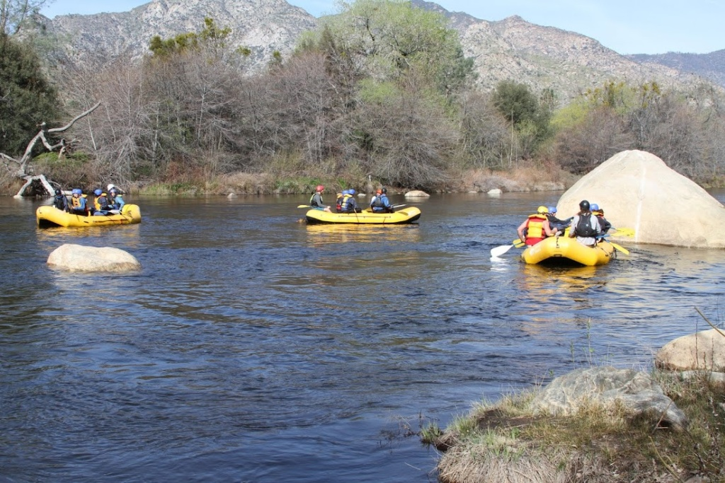 File: Sierra South Paddle Sports has begun offering guided rafting trips as of Mid-March due to better water flow conditions this year compared to last.