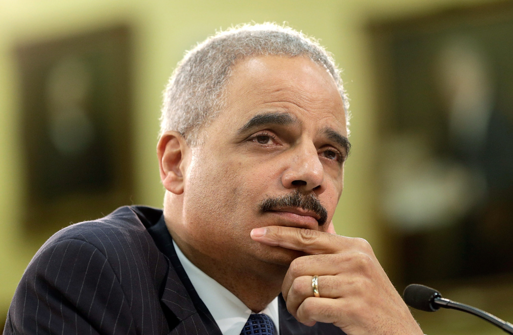 U.S. Attorney General Eric Holder testifies before the House Appropriations Committee on Capitol Hill April 18, 2013 in Washington, DC. The committee heard testimony from Holder on the topic of the fiscal year 2014 Justice Department budget request.