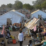 Tens of thousands of refugees are flocking to United Nations compounds like this one in Juba, while fears fester that fighting in the capital will resume.