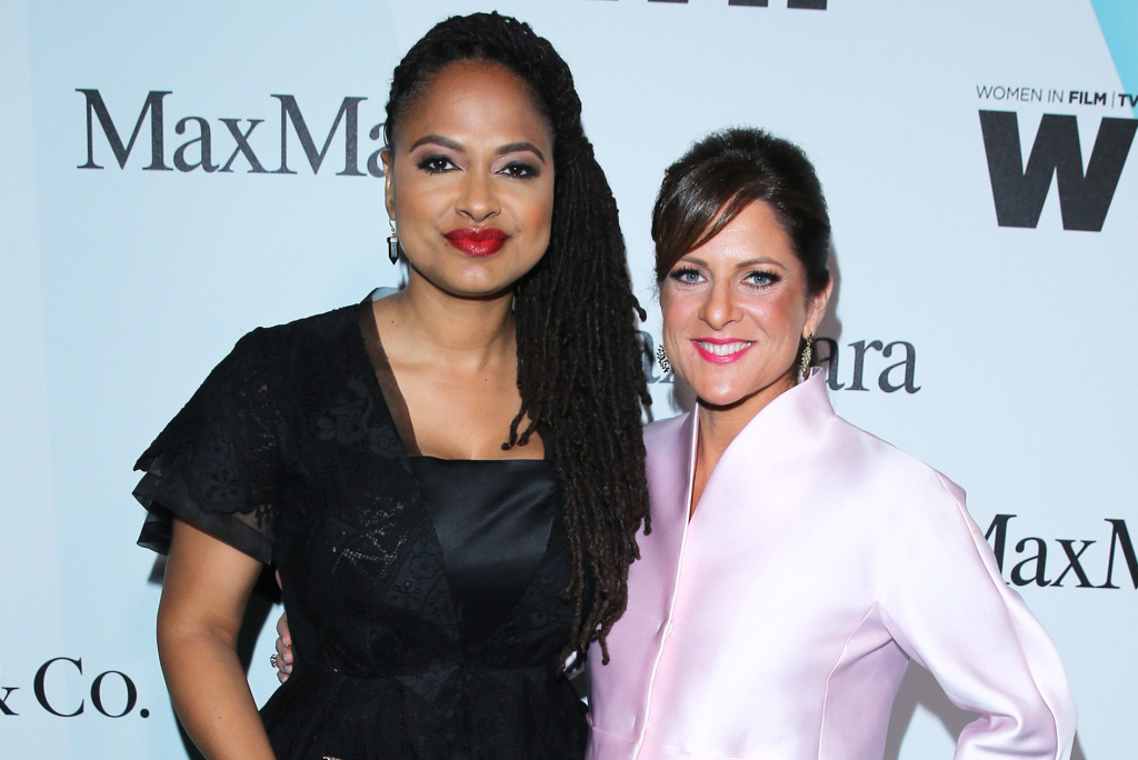 CENTURY CITY, CA - JUNE 16:  Honoree Ava DuVernay (L) and president of Women In Film, Los Angeles Cathy Schulman attend the Women In Film 2015 Crystal + Lucy Awards Presented by Max Mara, BMW of North America, and Tiffany & Co. at the Hyatt Regency Century Plaza on June 16, 2015 in Century City, California.  (Photo by Mark Davis/Getty Images for Women in Film) *** Local Caption *** Ava DuVernay; Cathy Schulman