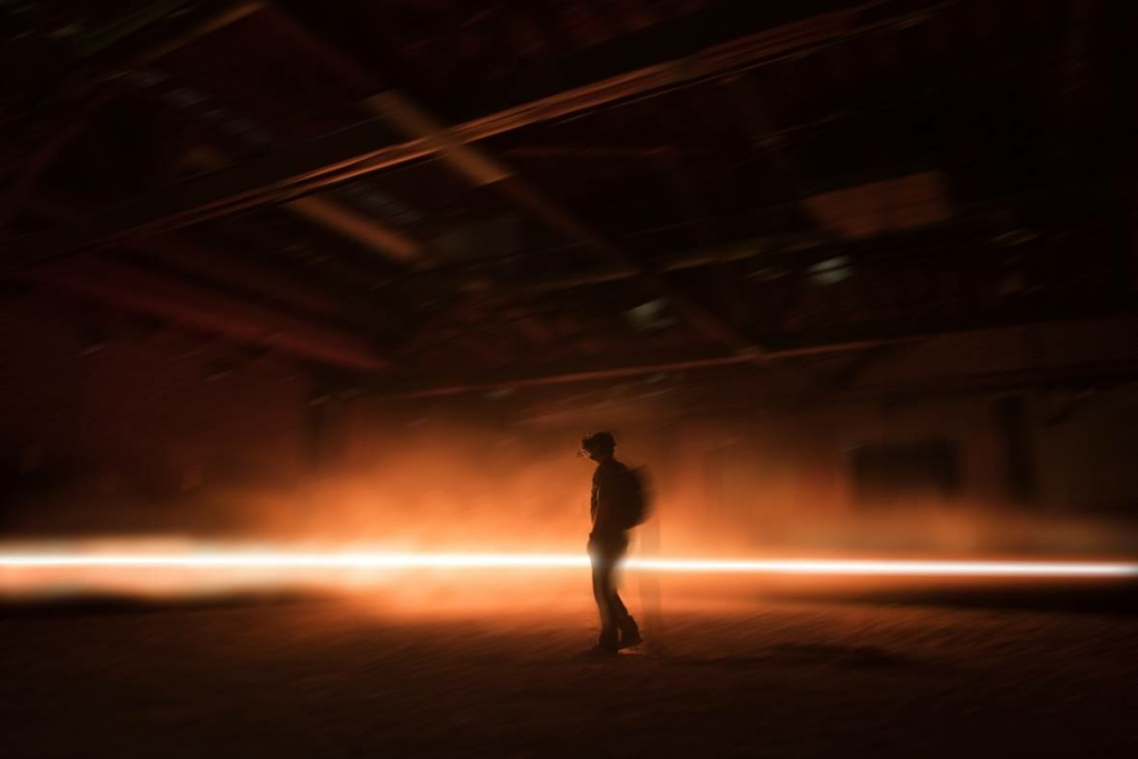 "An image from ""Carne y Arena"" (Flesh and Sand), Alejandro González Iñárritu's virtual reality experience   at the Los Angeles County Museum of Art."