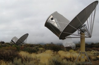 Allen Telescope Array in the Cascade Mountains. SETI no longer has funds to use these radio telescopes to search for alien life.