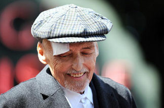 Actor Dennis Hopper attends the ceremony where he was honored with a star on the Hollywood Walk of Fame in Hollywood on March 26, 2010. Hopper, who starred in such cinematic classics as 'Easy Rider' and 'Apocalypse Now,' died of prostate cancer on Saturday, May 29, 2010.