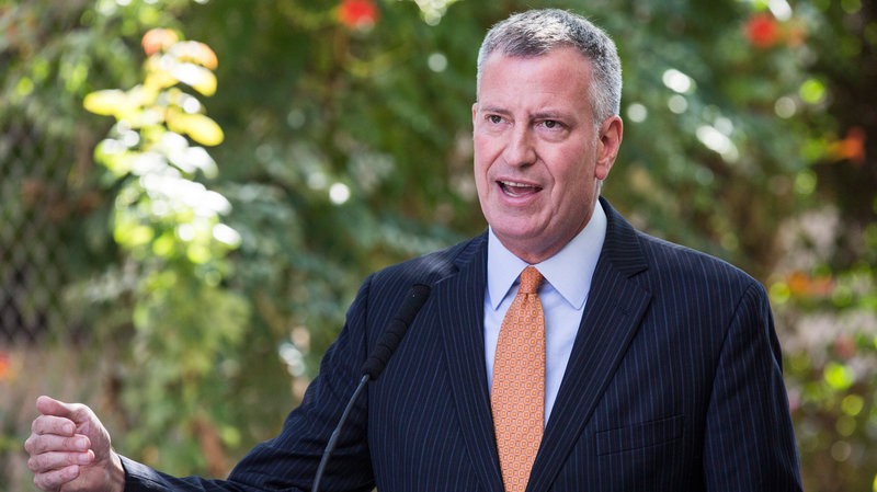 New York City Mayor Bill de Blasio says the city created the IDNYC program to fill a real need for New Yorkers with no other form of legal ID.