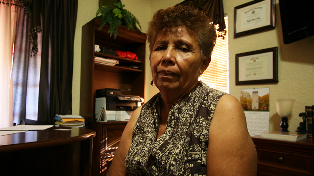 Taide Elena speaks about her dead grandson Jose Antonio Elena, shortly after he was shot 11 times by U.S. Border Patrol agents in late 2012.