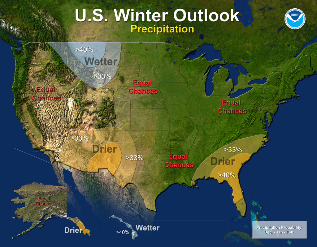 The National Oceanic and Atmospheric Administration released its 2013 winter forecast, saying there is no strong climate pattern driving weather in most of the country, including California.
