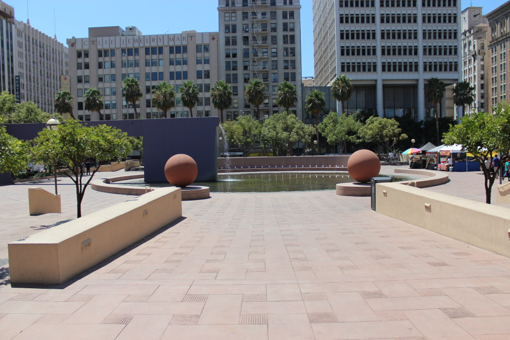 Downtown Los Angeles' Pershing Square.